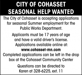 Seasonal Help Wanted