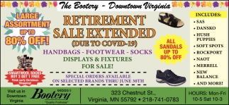 Retirement Sale Extended