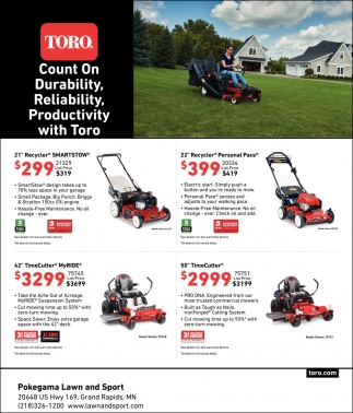 Toro. Count On Durability, Reliability, Productivity With Toro.