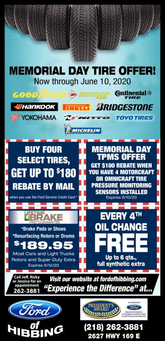 Memorial Day Tire Offer!