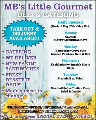 Take Out & Delivery Available!