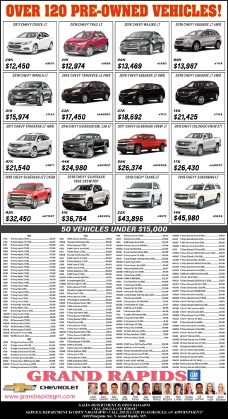 Over 120 Pre-Owned Vehicles!