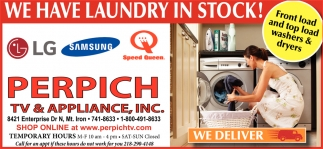 We Have Laundry In Stock!