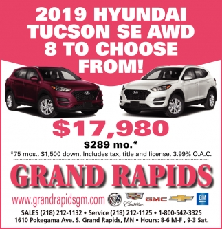 2019 Hyundai Tucson SE AWD 8 To Choose From!