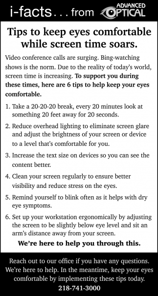 Tips To Keep Eyes Comfortable While Screen Time Soars