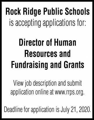 Director Of Human Resources And Fundraising And Grants