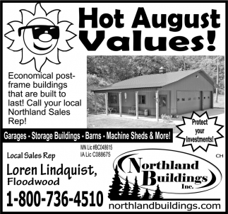 Hot August Values!