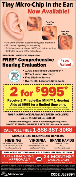 Tniy Micro-Chip In The Ear: Now Available!