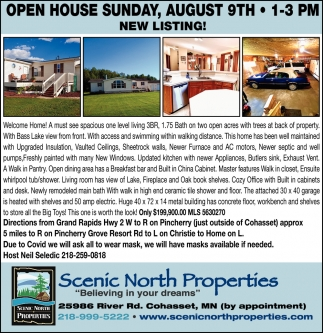 Open House Sunday, August 9th