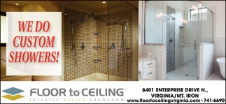 We Do Custom Showers!