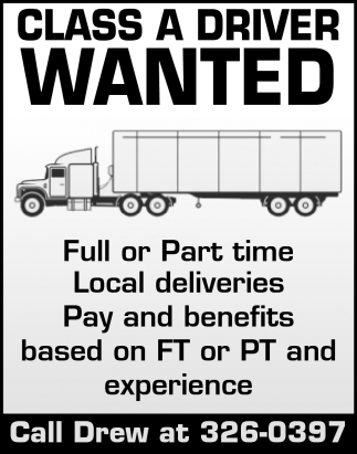 Class A Driver Wanted