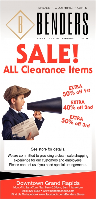 Sale! All Clearance Items