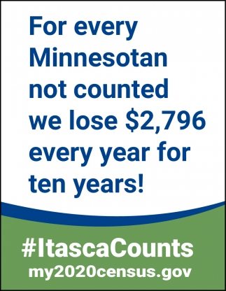 For Every Minnesotan Not Counted We Lose $2,796 Every Year For Ten Years!