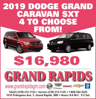 2019 Dodge Grand Caravan SXT 4 To Choose From!