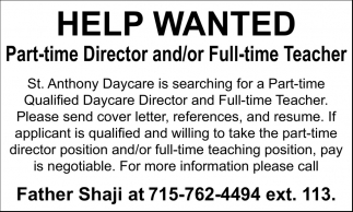 Director And Teacher St Anthony S Daycare Milwaukee Wi