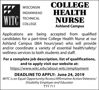 College Health Nurse