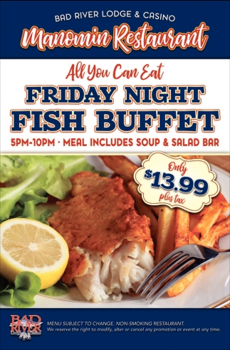 Manomin Friday Fish Buffet