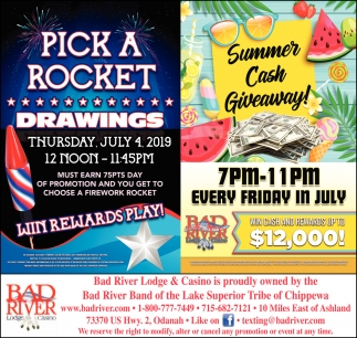 Pick a Rocket Drawings / Summer Cash Giveaway