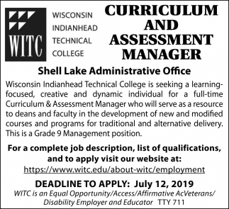 Curriculum and Assessment Manager