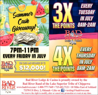 Summer Cash Giveaway / 3X The Points 4X The Points
