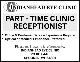 Clinic Receptionist