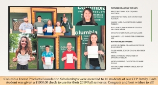 Columbia Forest Products Foundation Scholarships