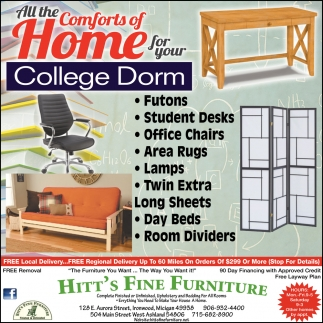 All the comforts of home for your college dorm