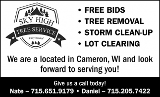 Free Bids, Tree Removal, Storm Clean-Up, Lot Clearing