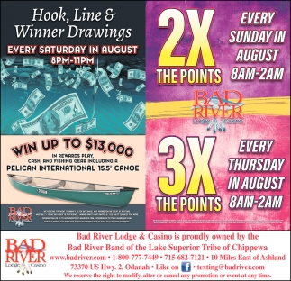 Hook, Line & Winner Drawings / 2X The Points 3X The Points
