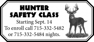 Hunter Safety Class