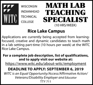 Math Lab Teaching Specialist