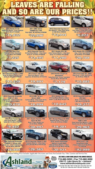 Leaves are falling and so are our prices!!