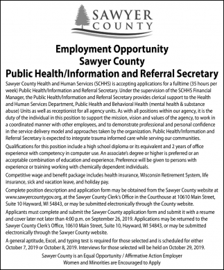 Public Health/Information and Referral Secretary