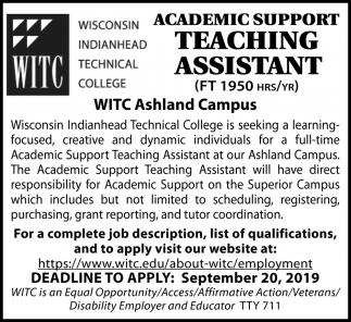 Academic Support Teaching Assistant