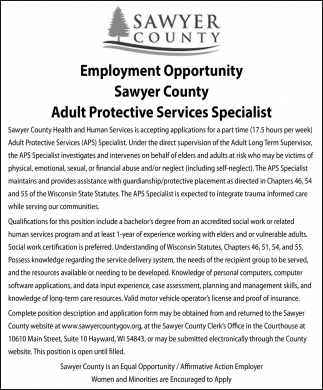 Adult Protective Services Specialist