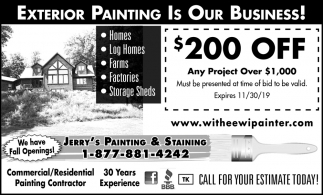 Exterior Painting Is Our Business!