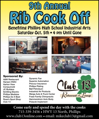9th Annual Rib Cook Off
