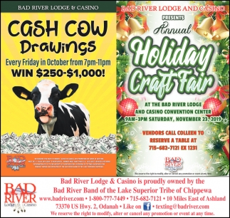 Cash Cow Drawings / Annual Holiday Craft Fair