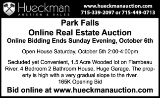 Park Falls Online Real Estate Auction