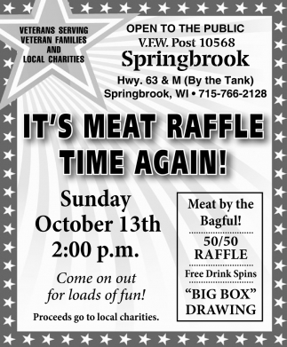 It's meat raffle time again!