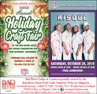 Annual Holiday Craft Fair / Risque