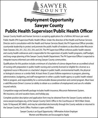 Public Health Supervisor / Public Health Officer