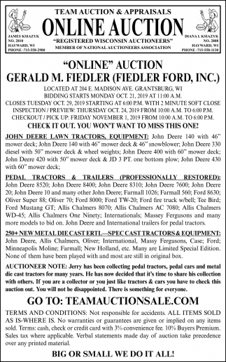 Online Auction Gerald M. Fiedler