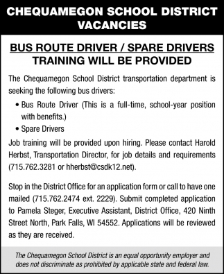Bus Route Driver / Spare Drivers