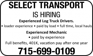 Experienced Log Truck Drivers / Experienced Mechanic