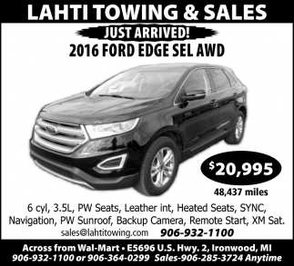 2016 Ford Edge Sel AWD