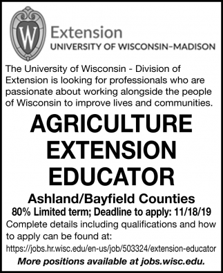 Agriculture Extension Educator