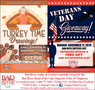 Turkey Time Drawings / Veterans Day Giveaway!