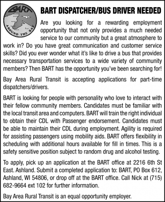 Dispatcher / Bus Driver