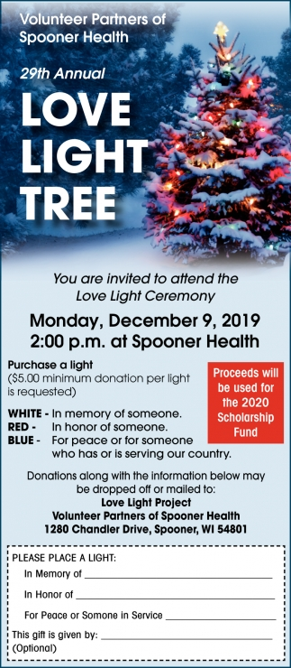 29th Annual Love Light Tree